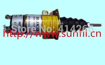 Wholesale Synchro Start solenoid 1504-12, 1504-12C2U1B1S1 3 terminals,3PCS/LOT,12VDC fit for synchro start electric fuel shut down solenoid 1504 12c2u1b1s1 12 vdc