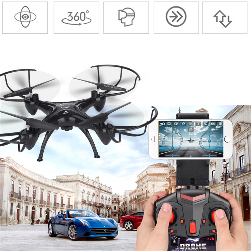 lensoul FPV Drone 3.0mp WiFi HD Camera Real Time Video RC Quadcopter 2.4GHZ 6-Axis Quadcopter Children toy Gift