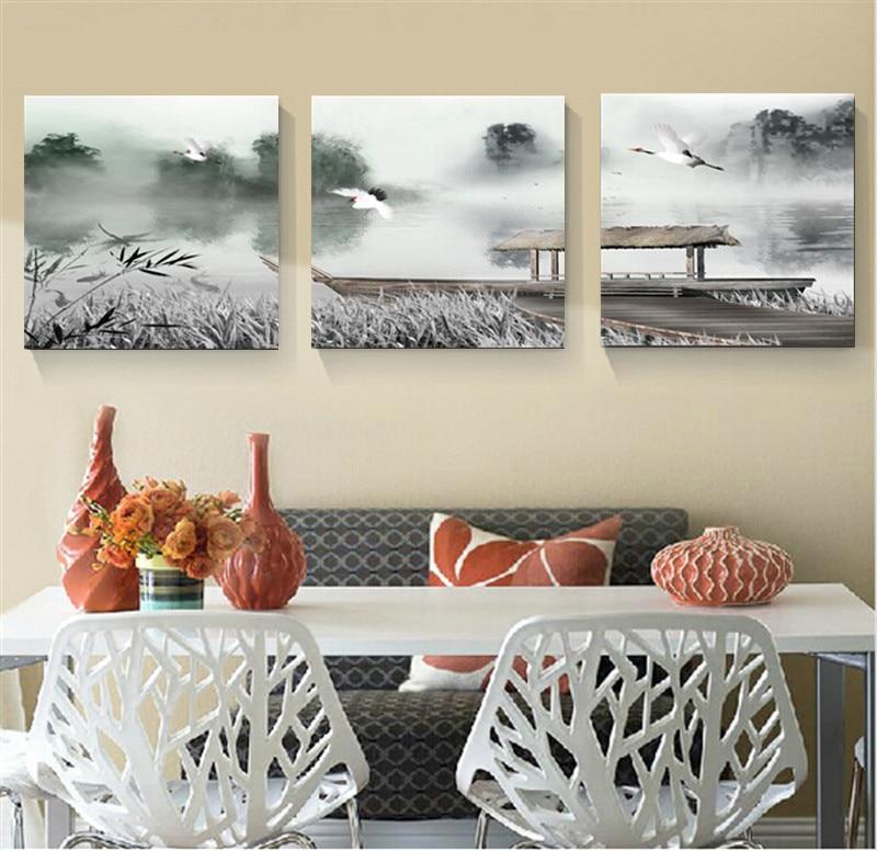 Bekend Canvas schilderij Chinese schilderen voor woonkamer muur thuis  NT14
