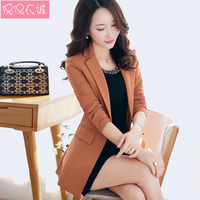 2018 Spring Jacket Women Long Office Blazers For Women Long Sleeved Slim Leisure Suit Formal Plus Size Suits Female