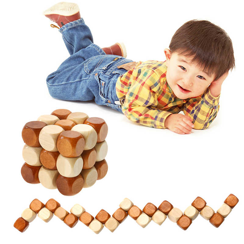 Funny Chinese Traditional Wooden Model Building Toys for Adult Children Intelligence Education Puzzle Lock Kids Baby Wood Toys