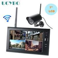 7 2,4G lcd беспроводные камеры видеонаблюдения система наружного видеоняня wifi комплект видеонаблюдения sd карта обнаружения движения