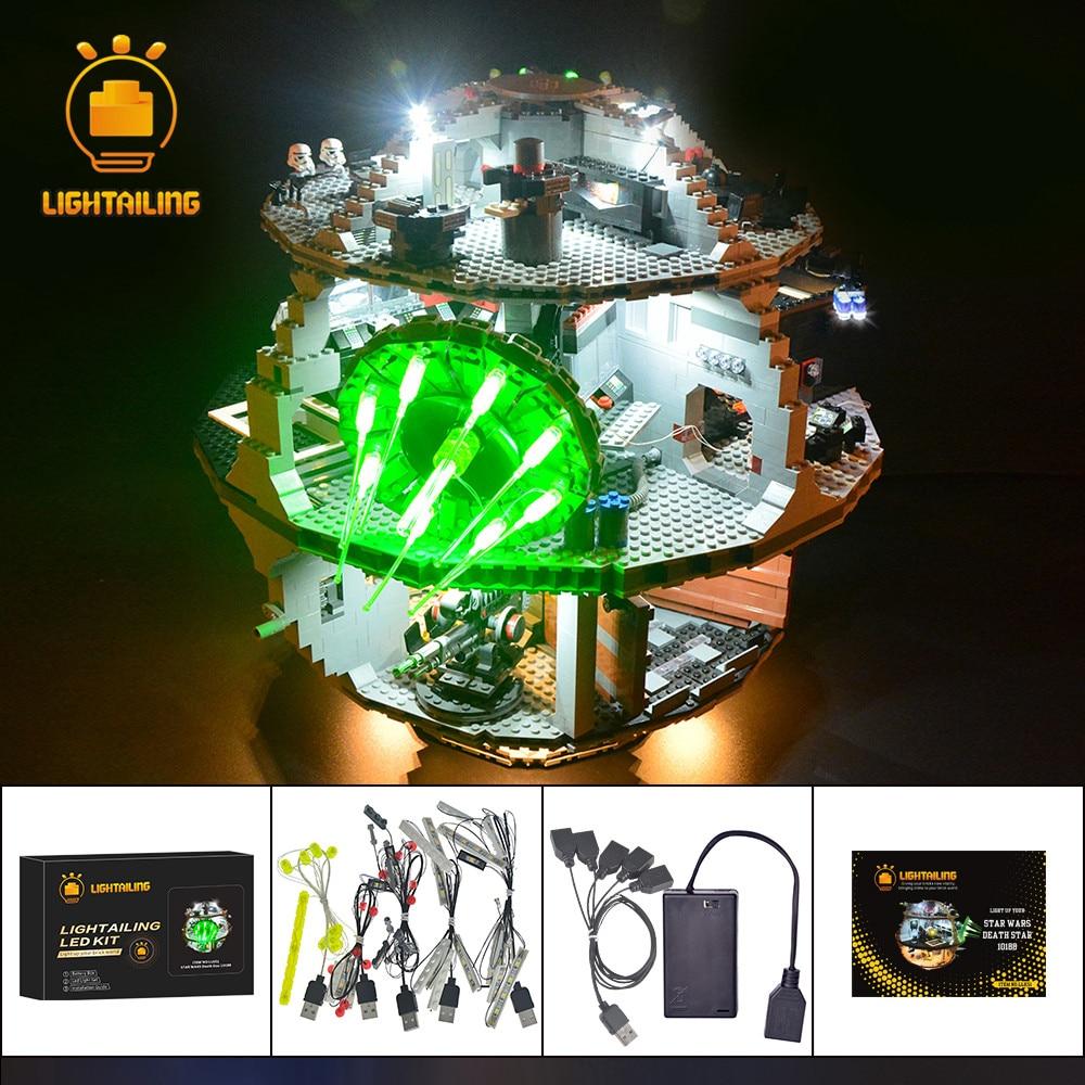 LIGHTAILING مجموعة إضاءة LED ل نجمة الموت اللبنات ضوء مجموعة متوافق مع 10188-في حواجز من الألعاب والهوايات على  مجموعة 1