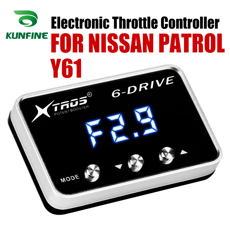 Car Electronic Throttle Controller Racing Accelerator Potent Booster For NISSAN PATROL Y61 Tuning Parts Accessory