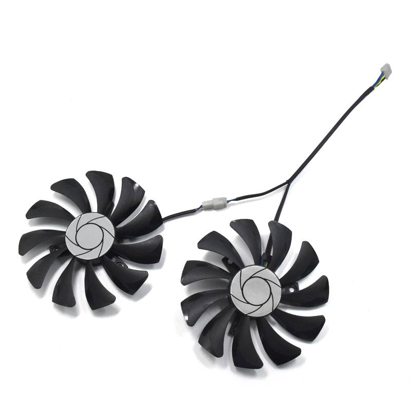 цена 2pcs/set HA9010H12F-Z GTX 1070/1060 GPU Card Cooling Fan For MSI GeForce GTX1060 GTX1070 MINI Graphics Card cooling