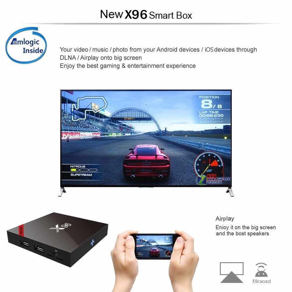 10 pièces X96 X96W Android 7.1 TV Box Mini Amlogic S905W 1 + 8G 2 + 16G Bluetooth Support 2.4GHz WiFi HD 4K lecteur multimédia décodeur