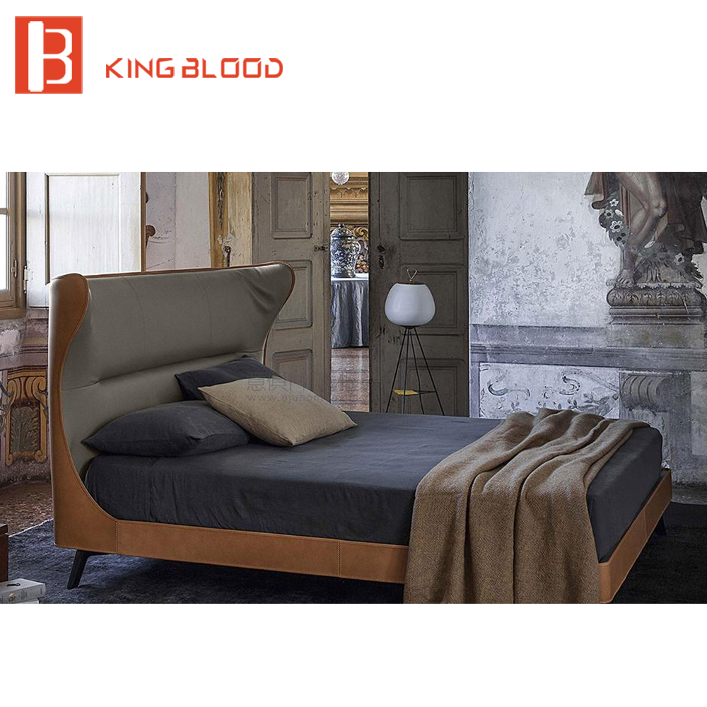 Leather Bed Frame Us 1050 Latest Metal Leg Double Bed Design Leather Bed Frame Italian Leather Round Bed For Bedroom Furniture In Beds From Furniture On