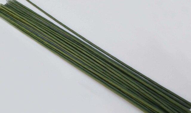Green floral draht 2 # papierblume stamm 12 stücke ronde blume draht ...