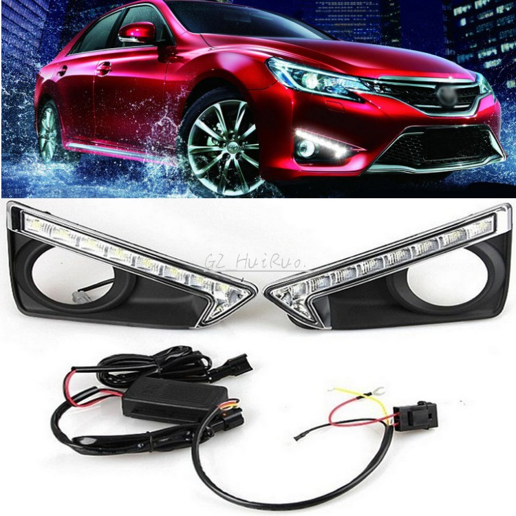 ФОТО 1Set White New LED Daytime Running Light DRL Lamp for Toyota REIZ MARK X 2013 2014 2015