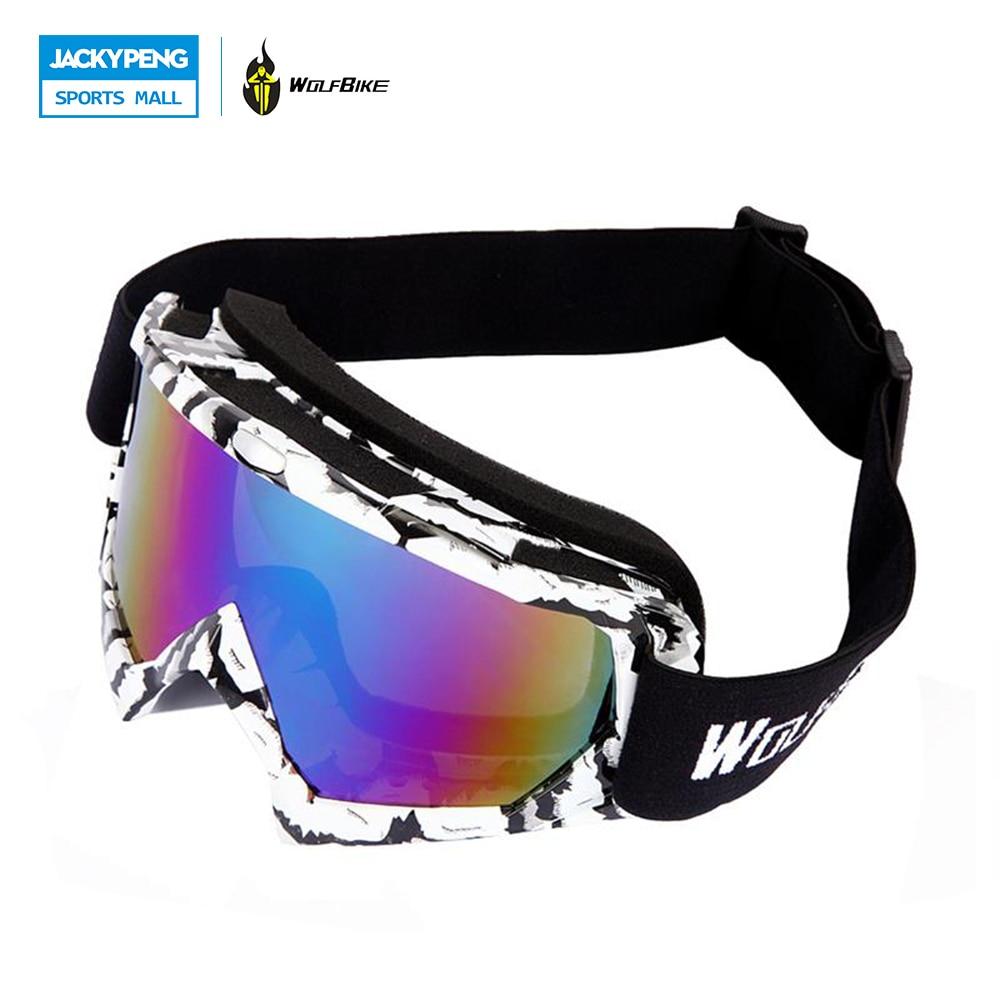 WOLFBIKE Лыжные Очки Мужчины Женщины Лыжах Маска Очки UV400 Анти-туман Снег Сноуборд Катание Мотоциклов Мотокросс Off-Road очки