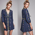 Bohemian Boho Dresses Vintage Floral Wild Grassland Women Clothing Fashion Sexy One-piece FP022