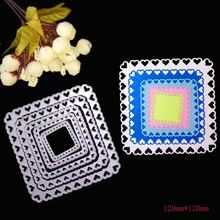 Квадратные металлические штампы с рамкой в форме сердца для