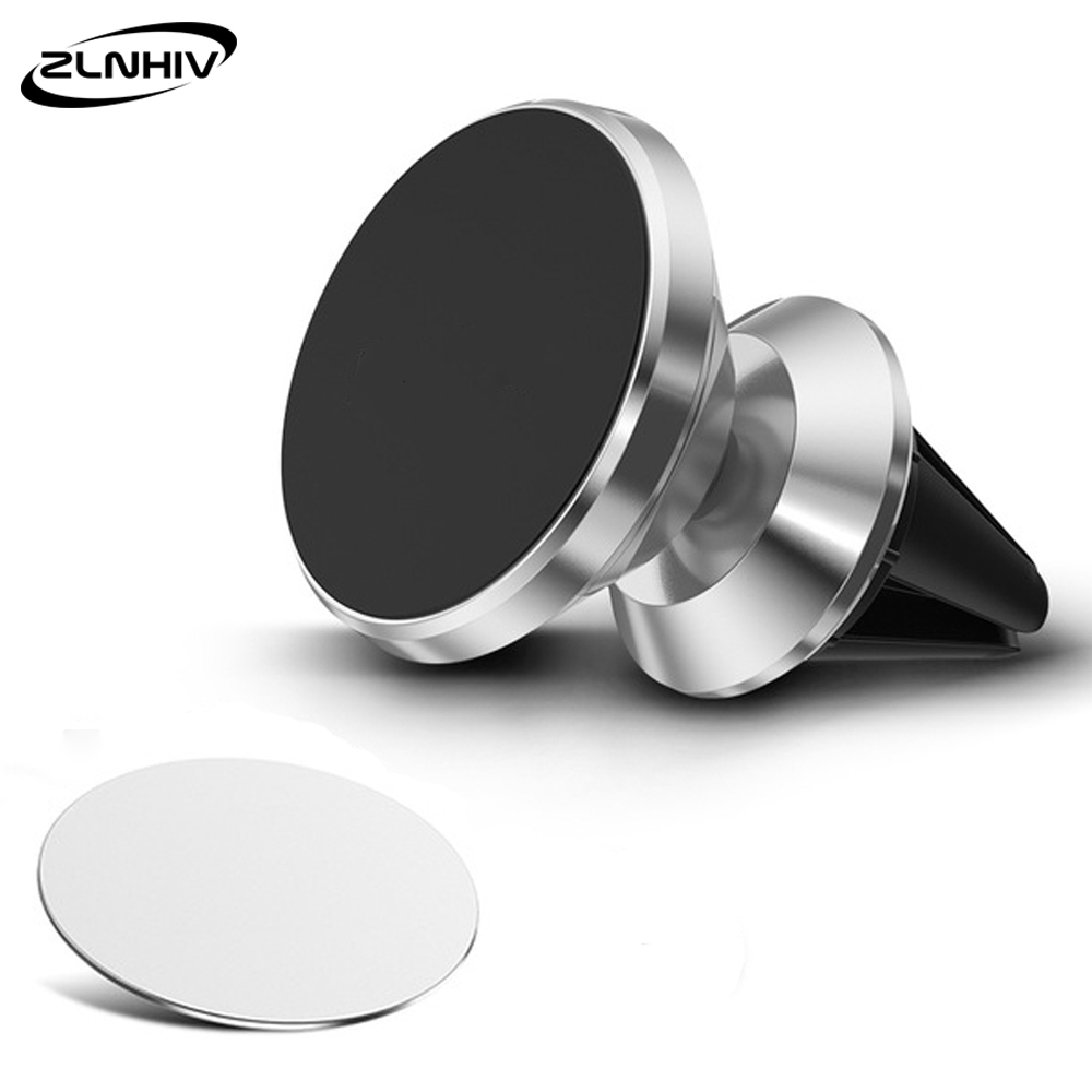 ZLNHIV Magnetic Holder For Phone In Car Round Cellphone For Iphone Accessories Mobile Cell Stand Mount Support Smartphone Magnet