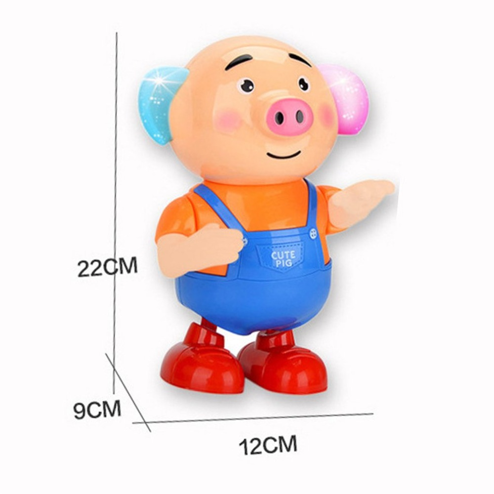 US $13 73 OFF Bayi Mainan Kerincingan Flash Light Rumput Laut Babi Mainan Indah Menari Babi Mainan Listrik Hadiah Lucu untuk Anak anak Kemampuan