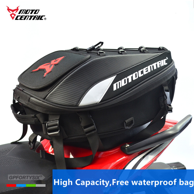 Waterproof Motorcycle Tail Bag Multi-Functional Durable Rear Motorcycle Seat Bag High Capacity Motorcycle Rider Backpack Tank Bag Motorbike Rear Seat Light Tail Bag11-MC-0102