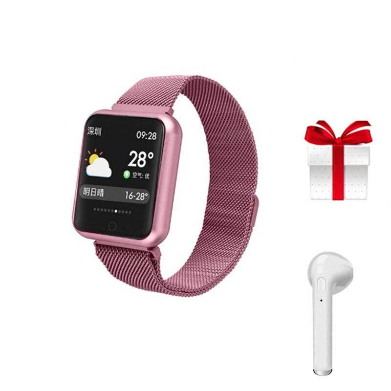 P68 smart bracelet Bluetooth earphone set fitness activity tracker multi sports mode relogio smart watch for