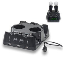 Yoteen Cho PSVR PS4 Di Chuyển Chuyển Động Bộ Điều Khiển Sạc 7 Trong 1 Đế Sạc Dock LED Cho Tay Chơi Game Sony Dualshock 4 tay Cầm Chơi Game