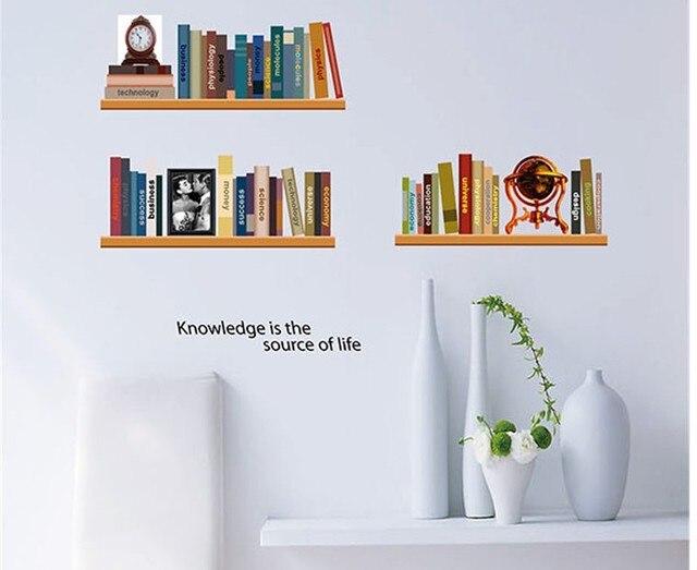 retro slaapkamer interieur muur plank stickers badkamer spiegel, Meubels Ideeën