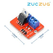 0-24V Top Mosfet Button IRF520 MOS Driver Module MCU ARM Raspberry pi(China)