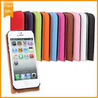 100 Genuine Leather Multicolor Flip Protection Phone Case Cover For Apple Iphone 5 5s Phone Pouch