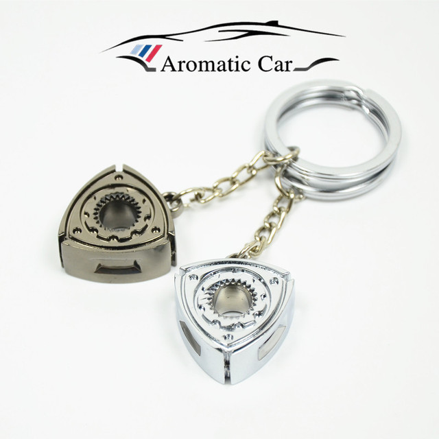 US $1 4 | For Mazda RX7 RX8 Wankel Rotary Engine Rotor Keychain Keyring Key  Chain metal Car styling (The rotor can't spin)-in Key Rings from