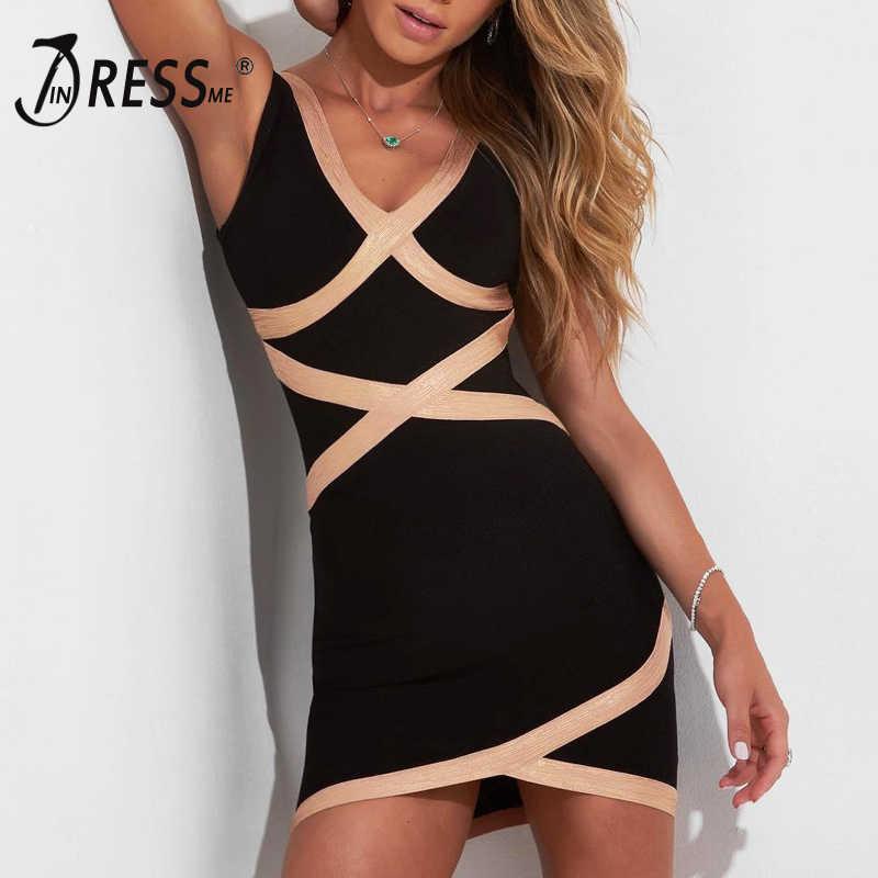 INDRESSME модное женское Полосатое платье с повязкой на бретельках сексуальное платье с глубоким v-образным вырезом без спинки облегающее платье Vestidos 2019 Новинка