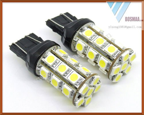 free shipping 2pcs t20 7443 w21 5w 27smd 5050 led car bulb. Black Bedroom Furniture Sets. Home Design Ideas
