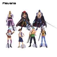 Anime One Piece Super New Stars 7pcs/set Luffy Zoro Eustass Kid Hawkins X. Drake Trafalgar Law Jewelry Bonney PVC Figures Toys