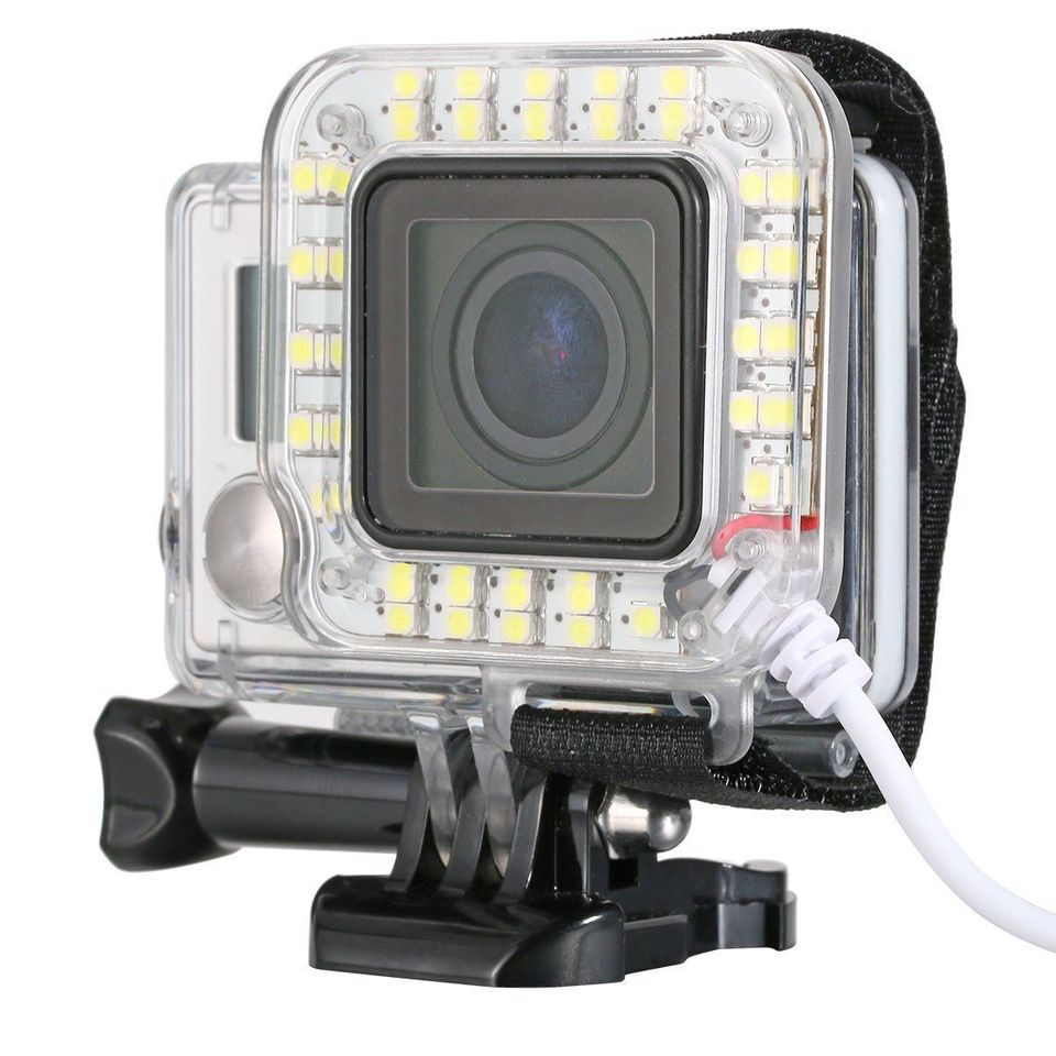 3 for MOBILEACCESSORIES TL USB Lens Ring LED Flash Light Shooting Night for GoPro HERO4 Sports Camera