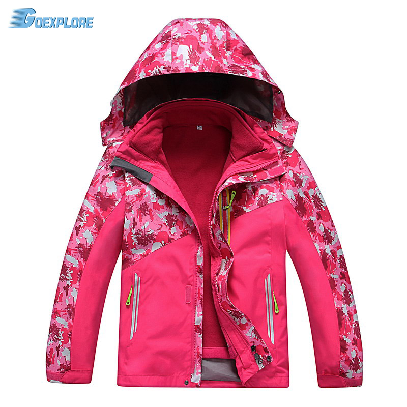 Dropshipping 120-150 New Outdoor Skiing Waterproof Windbreaker Kids Outdoor Sports Clothing snowboard jacket children
