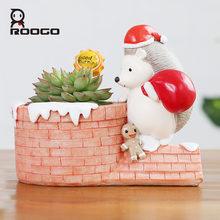 Roogo Рождественский Декор цветочный горшок в форме животного