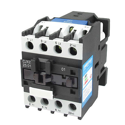 220V Coil Motor Controler AC Contactor 3 Pole 3P NC 660V 11KW CJX2-2501 3 pole 3p motor protection thermal overload relay 4 6a 1 no 1 nc