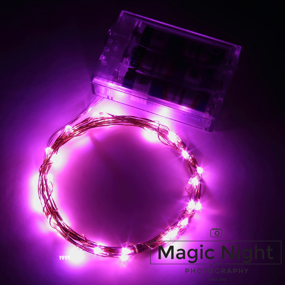 Magicnight 10ft 30 Pink Mini Micro LED Starry Lights Submersible Fairy Lights Copper LED Lights Strings AA Battery Powered