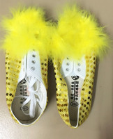 Clearance Deal Yellow Lion Shoes Chinese Lion Dance Shoes Festival Dance Shoes