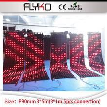 3 м * 5 м светодиодный видеоэкран Club TV шоу на сцене украшения 5 штук 10FT по 4ft соединения DJ стенд HD P90mm