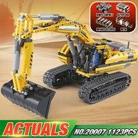 Лепин 20007 технических двигатели игрушки 1123 шт. LegoINGys 8043 моторизованный экскаватор модель Classic Car Игрушки Дети блоки