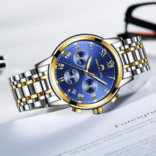 MEGALITH שעוני גברים עמיד למים נירוסטה יוקרה אנלוגי יד שעונים הכרונוגרף תאריך ספורט קוורץ שעונים Montre Homme