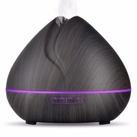 TSUNDERE L 400ML Ultrasonic Aroma Essential Oil Diffuser Air Humidifier Cool Mist Maker Aromatherapy With Wood