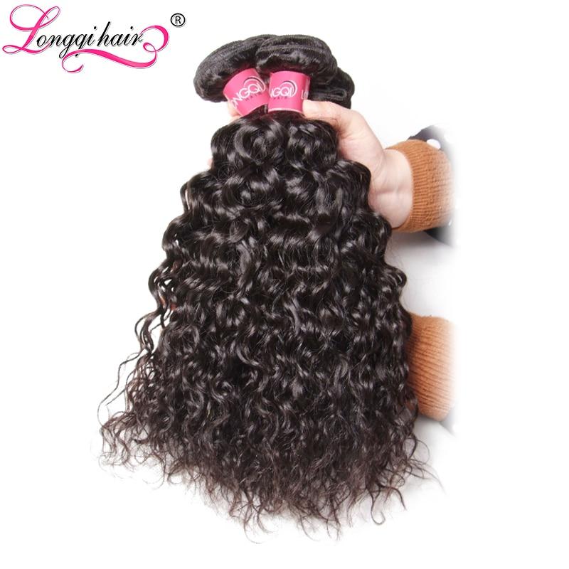 Longqi Hair Peruvian Water Wave Human Hair 3 Bundle Deals Remy Hair Weaving 8 10 12