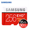 SAMSUNG Micro SD 16 ГБ 32 ГБ 64 ГБ 128 ГБ 256 ГБ EVO Плюс MicroSD Карты Макс 80 М/с C10 Карты памяти SDHC SDXC TF Trans Flash Микро Карты