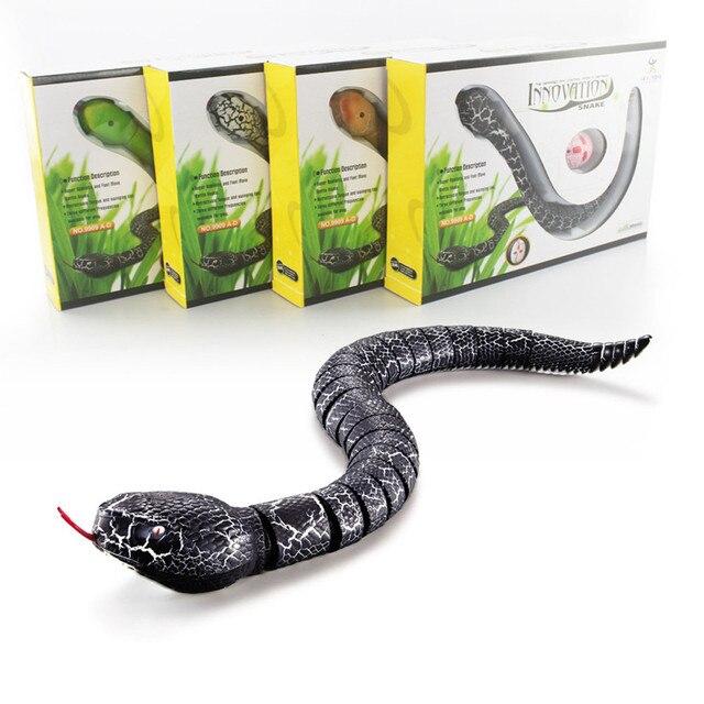 Новый Забавный пульт дистанционного управления змея погремушка животное трюк страшная игрушка-прикол черный Высокое качество Прямая доставка