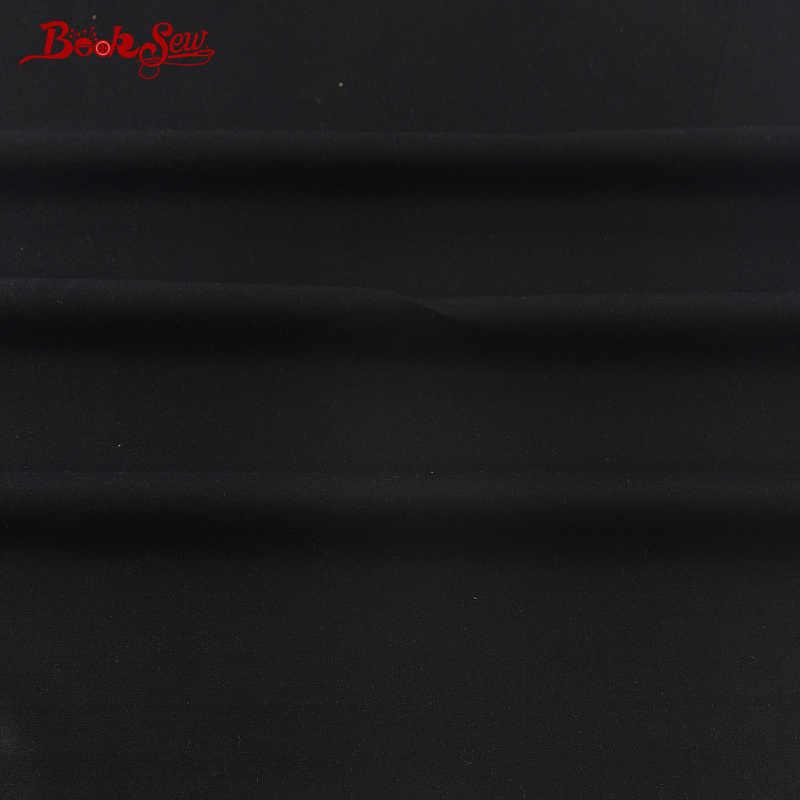 Booksew Afrikaanse Ankara Stof Telas Patchwork Algodon 100% Katoen Stof Dye Twill Zwarte Klassieke Kleur Materiaal Naaien Zachte
