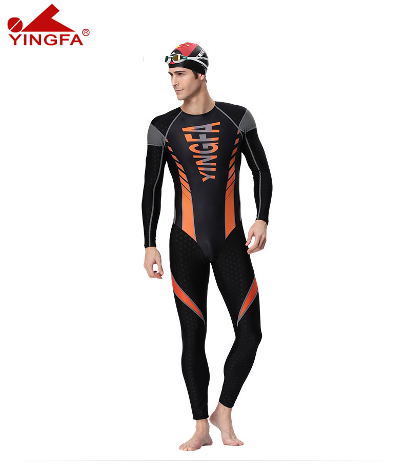 YINGFA men one pieces swimsuit suits diving sharkskin swimsuit Long-sleeved trousers sunscreen training swimsuit diving swimsuitYINGFA men one pieces swimsuit suits diving sharkskin swimsuit Long-sleeved trousers sunscreen training swimsuit diving swimsuit
