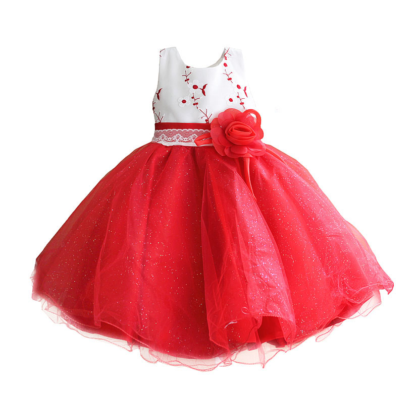 цены Ball Gown Super Bow Girl Party Dress Flower Embroidery Lace Belt Kids Dresses for Girls Clothes robe fille enfant 3-8T