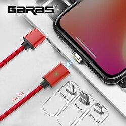 GARAS USB Typ C/Micro USB/Für iphone Magnetische Kabel USB-C/Typ-C Schnelle Ladegerät Magnet kabel Für iphone/ipad Handy Kabel