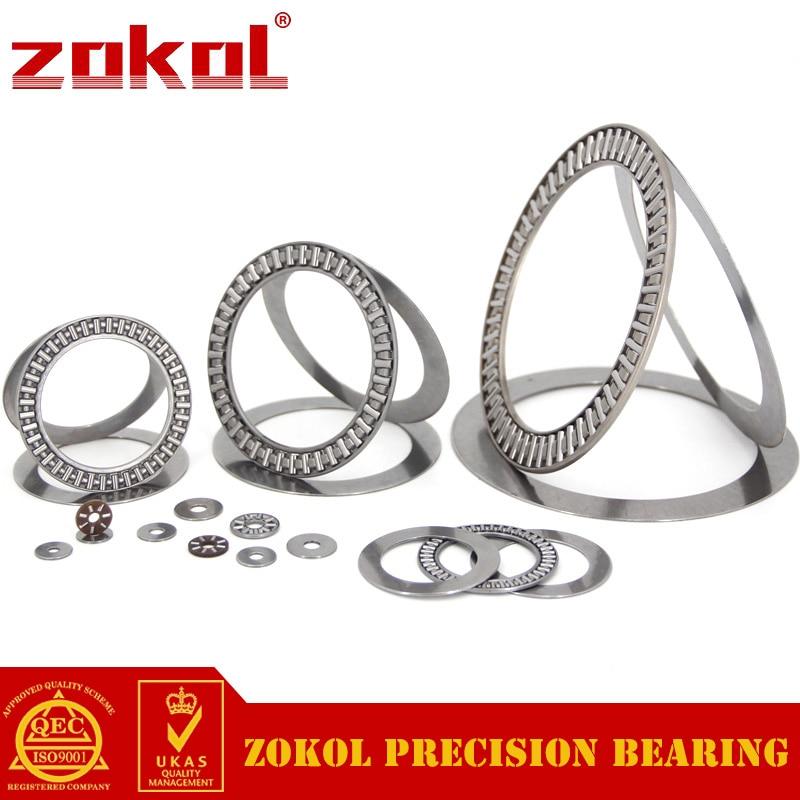 ZOKOL AXK140180 2AS bearing AXK140180+2AS needle roller bearing 140*180*7mm na4910 heavy duty needle roller bearing entity needle bearing with inner ring 4524910 size 50 72 22