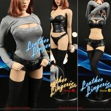 F-049 1:6 Mujer Sexy Conjunto de Lencería de Cuero Locomotora de juguete Juegos de la Ropa de Cuero para 12 pulgadas HT CG Phicen Figura Corporal