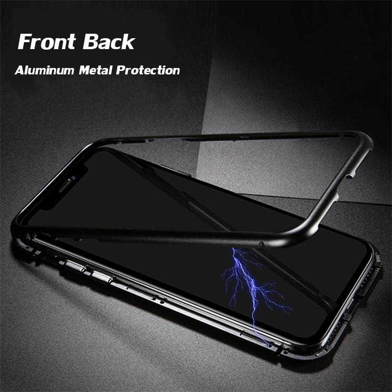 e72f4fa8ba7 ... 360 Full Magnetic Cases For iPhone 6s plus 7 8 plus X Aluminum Metal  Bumper Cover ...