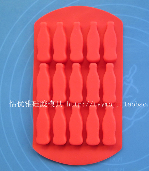 Genteel Wholesale/retail,free Shipping,15 Hole Bottle Cola Bottle Silica Gel Cake Mold Chocolate Pudding Mould Ice Cube Trayhole 4*1*1cm Kitchen,dining & Bar