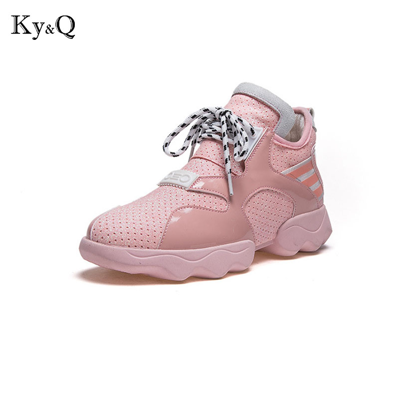 spring fashion women casual shoes Suede leather platform shoes women sneakers Ladies white Trainers chaussure femme igu sneakers women genuine leather shoes females platform shoes ladies flats harajuku punk shoes creeper girls chaussure femme